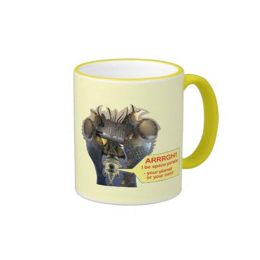 Talk like a space pirate ringer coffee mug