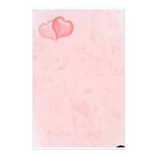 talk marbled stationery with 2 hearts into the top