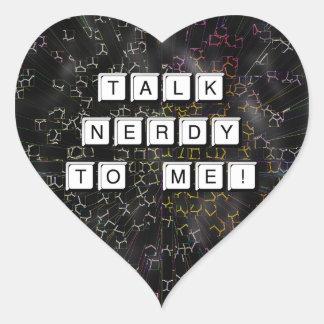 Talk Nerdy Heart Sticker