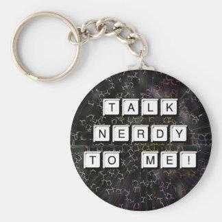 Talk Nerdy Keychain