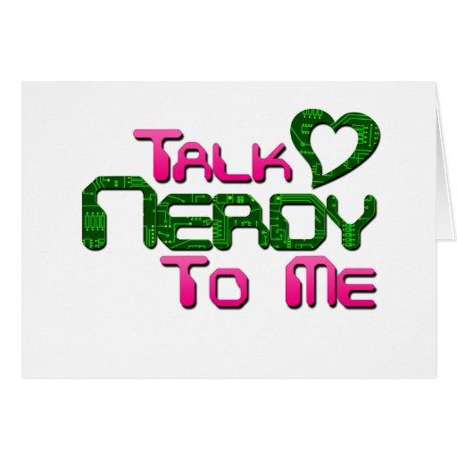 Talk Nerdy To Me Circuit Greeting Card