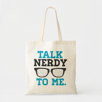 Talk Nerdy to Me Funny Spectacles Tote Bag