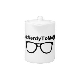 Talk Nerdy to me Glasses Teapot