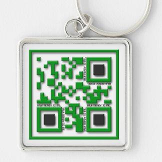 Talk nerdy to me key chain
