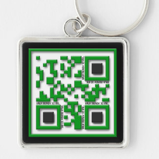 Talk nerdy to me Silver-Colored square keychain