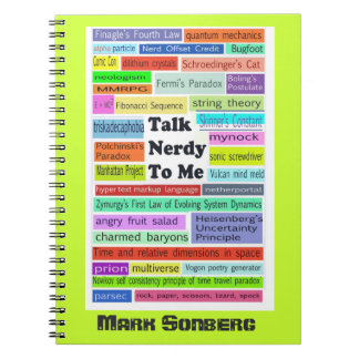 """Talk Nerdy to Me"" notebook"