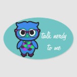 Talk Nerdy to Me Owl Stickers
