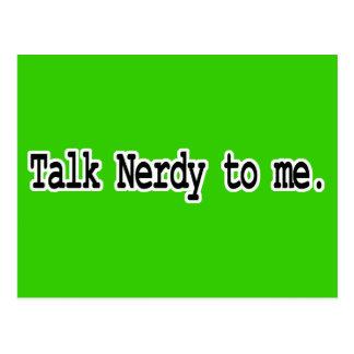 talk nerdy to me postcard