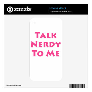 Talk Nerdy To Me Decals For The iPhone 4