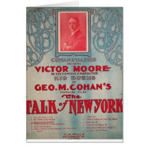 Talk of New York, Cohan, Victor Moore Card