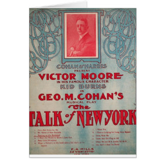 Talk of New York, Cohan, Victor Moore Greeting Card