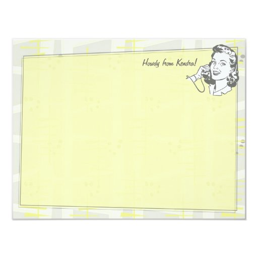 Talk of the Town Personalized Flat Note Cards