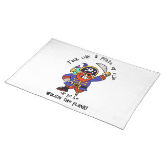 Talk Pirate or Walk The Plank - It s Pirate Day Place Mat