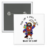 Talk Pirate or Walk The Plank - It's Pirate Day Pin