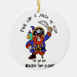 Talk Pirate or Walk The Plank - It's Pirate Day Christmas Tree Ornament