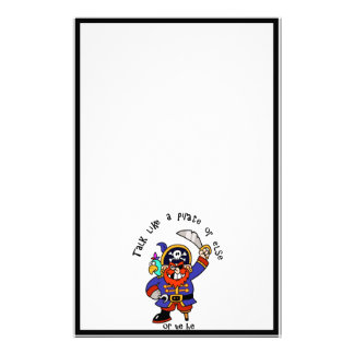 Talk Pirate or Walk The Plank - It's Pirate Day Stationery Paper