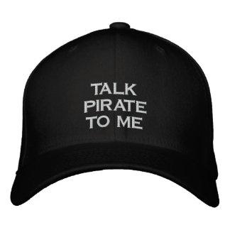 Talk Pirate To Me Black Snapback Hat