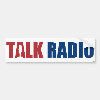 Talk Radio Bumper Sticker