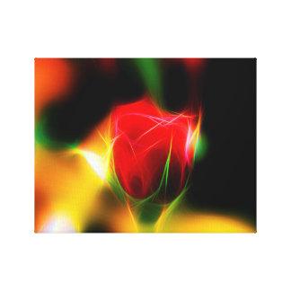 talk rose neon poster canvas print