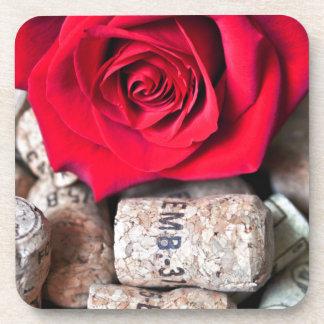 TALK ROSE with cork Drink Coaster