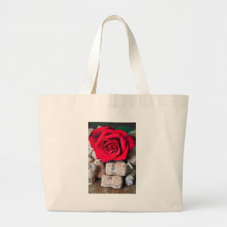 TALK ROSE with cork Large Tote Bag