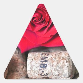 TALK ROSE with cork Triangle Sticker