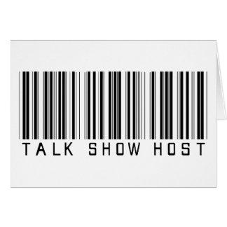 Talk Show Host Bar Code Greeting Card