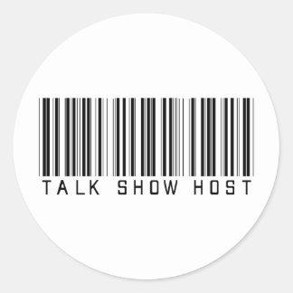 Talk Show Host Bar Code Round Stickers