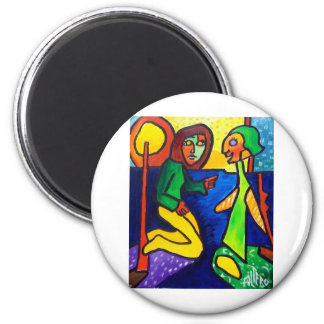 Talk to Angels by Piliero 2 Inch Round Magnet