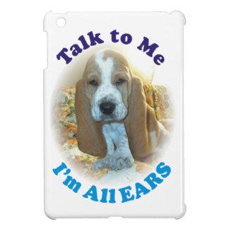 Talk To Me I'm All Ears Basset Hound iPad Mini Cover