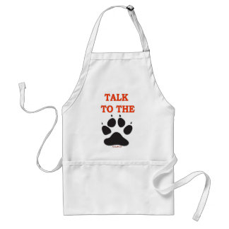 TALK TO THE CLAW ADULT APRON