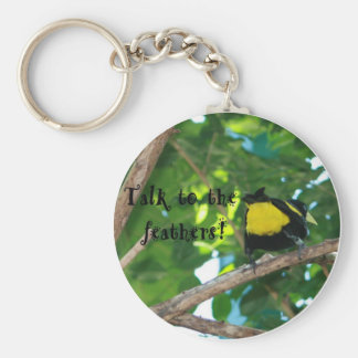 Talk to the feathers! Keychain