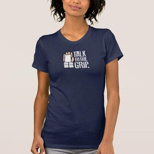 TALK TO THE GRIP Gymnast Gymnastics shirt ON DARK