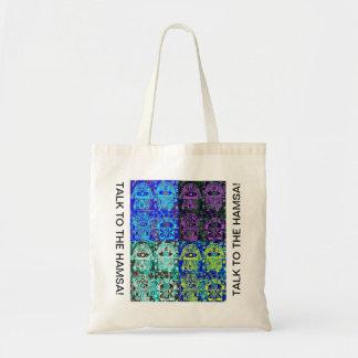 Talk To The Hamsa Tote Bag