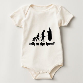 Talk to the hand! baby bodysuit