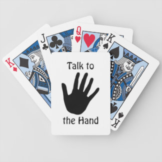 TALK TO THE HAND BICYCLE PLAYING CARDS