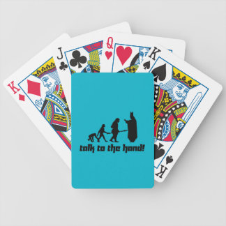 Talk to the hand! bicycle playing cards