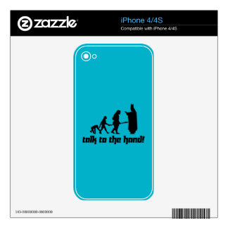 Talk to the hand! iPhone 4 decals