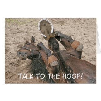 """""""TALK TO THE HOOF!"""" CARD"""