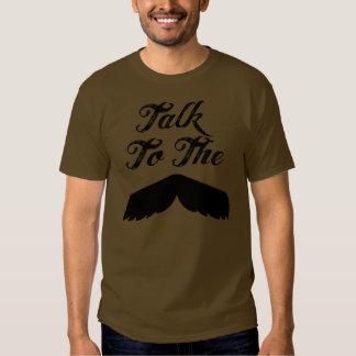 Talk to the Mustache - Dark Tee