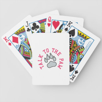 Talk to the Paw Bicycle Playing Cards