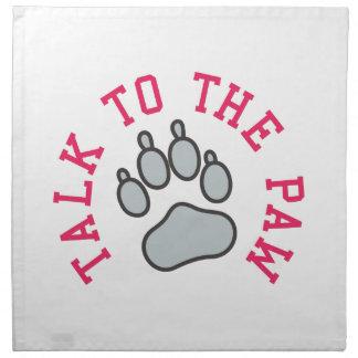 Talk to the Paw Cloth Napkin