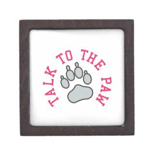 Talk to the Paw Jewelry Box