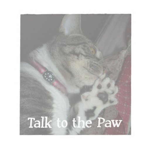 Talk to the Paw Scratch Pad
