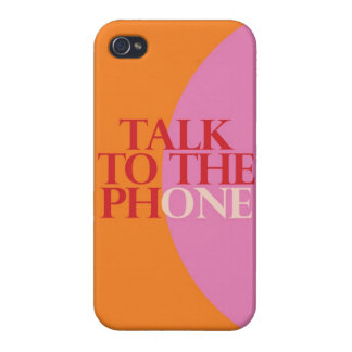 """Talk To The Phone"" iPhone 4 Cover"