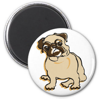 Talk to the Pug 2 Inch Round Magnet