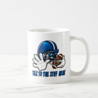 Talk to the Stiff Arm Coffee Mug
