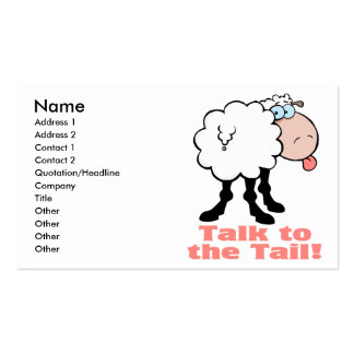 talk to the tail attitude funky sheep business card