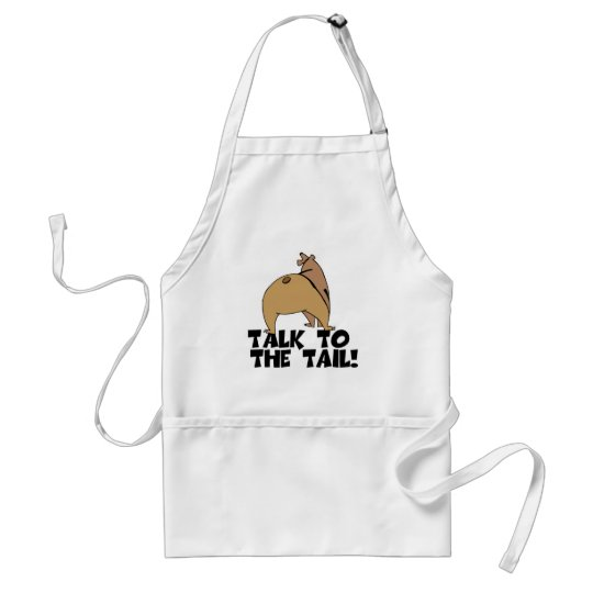 Talk to the Tail Bear Adult Apron