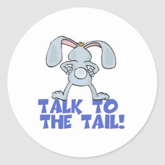 Talk to the Tail Bunny Rabbit Sticker